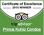 Prince Kuhio Certificate of Excellence
